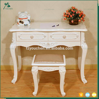 Factory Price French Antique Design Carved Beauty White Dresser