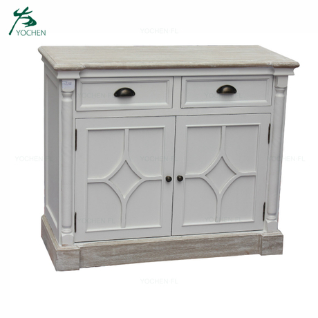Home Decor Furniture noble white vintage cabinet with drawers