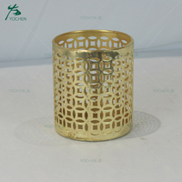 Home decoration rose gold metal candle holder