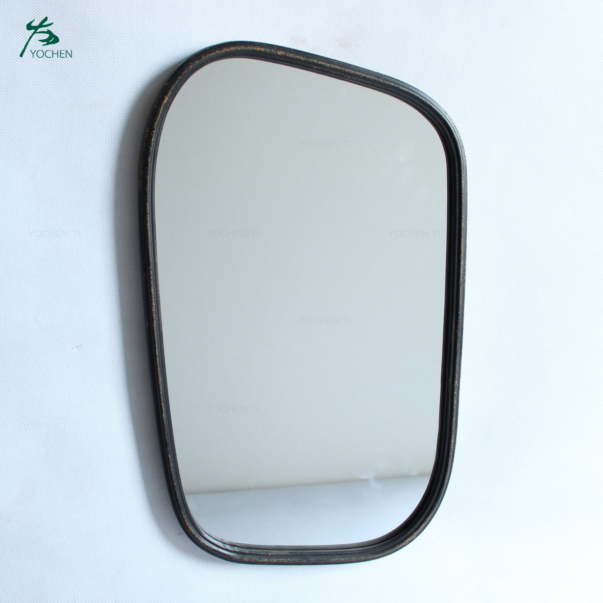Black mirror frame wall mirror with black frame in modern design