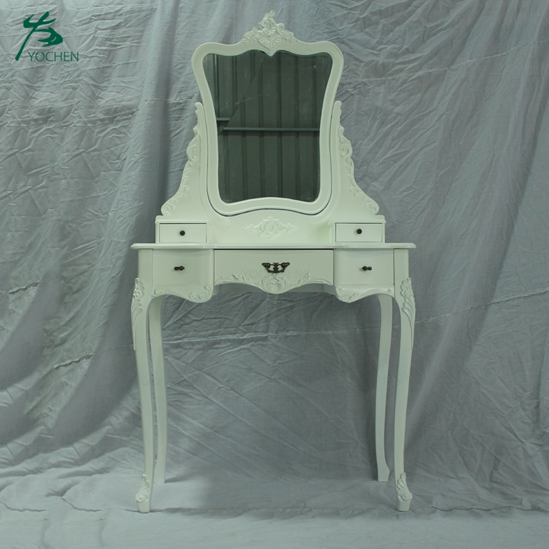 bedroom furniture antique french white wood dressing table