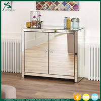 Luxury Mirrored 2 Door Sideboard Chest
