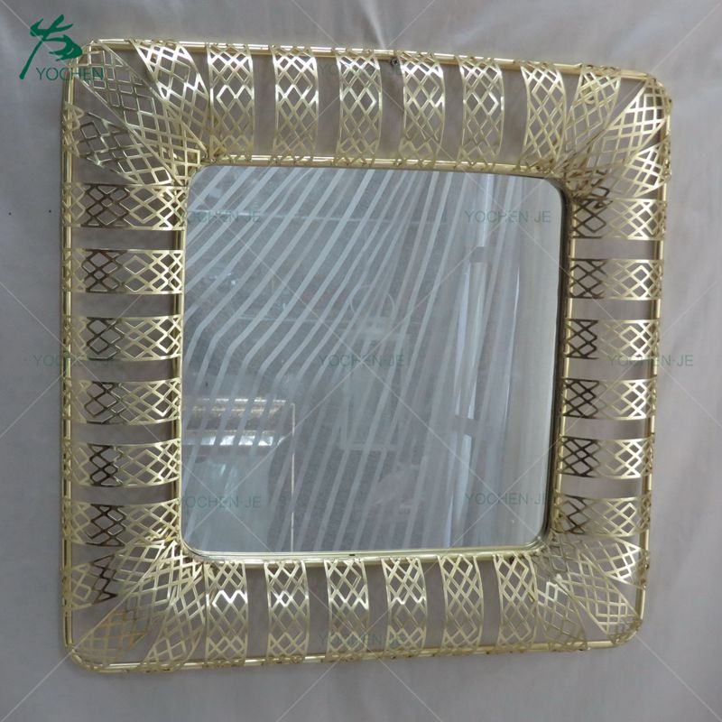 Top selling ornate gold mirror wooden frames wall mirror