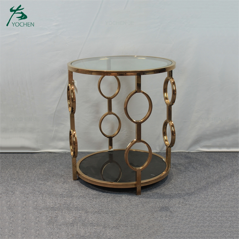 Home furniture living room sofa metal marble side table