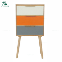 bedroom colorful drawers modern wooden nightstand