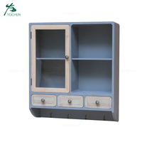 living room furniture 3 drawer wooden wall decorative shelf