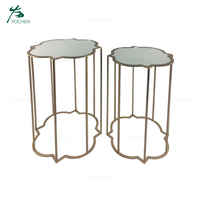 set 2 hotel coffee table glass top table