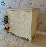 Bedroom furniture decoration soft white finish 3-drawer dresser cabinet medium size
