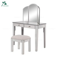 Venetian style modern mirrored furniture dressing table with stool