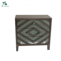 old fashion living room decorative furniture mirror storage drawer cabinet