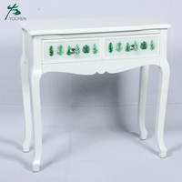 decorative living room wood curved white console table