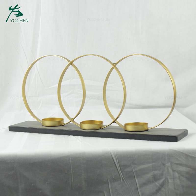 Wedding decorative gold geometric metal candle holder