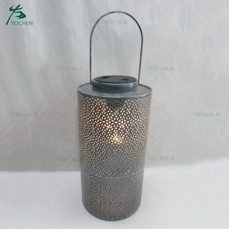 Iron floor standing golden metal candle holders for house