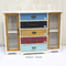 Living Room Antique Multicolor Distressed Wood Storage Cabinet