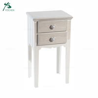 modern heart handle side table wooden storage cabinet in living room
