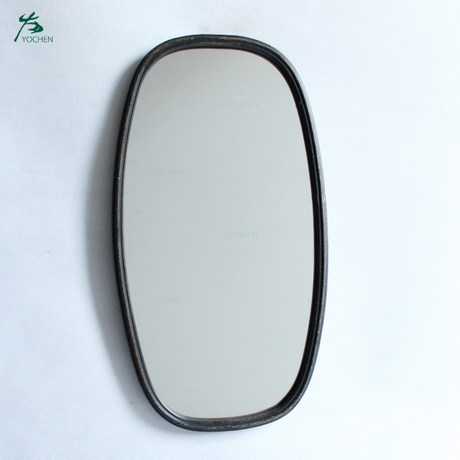 Makeup Mirrors Wall Bathroom Mirror Hanging Mirror Metal Frame Bathroom Furniture