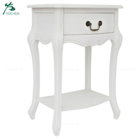 White lamp table bed side table wood nightstand