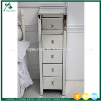 Venetian Mirrored Glass Chest of Drawers Bedroom Furniture