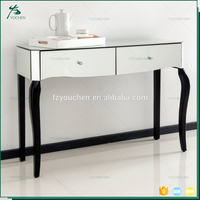 Hot Sale Fashion Modern Glass Mirrored Console Table