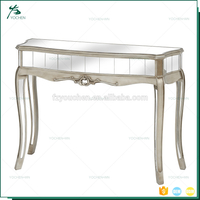 Home Decor Furniture Italian Vanity Mirrored Console Table