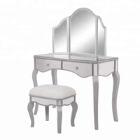 Bedroom dresser home center wooden mirrored dressing table