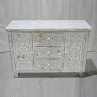 2 Door Accent Oriental Chic Distressed Solid Wood wooden storage cabinet