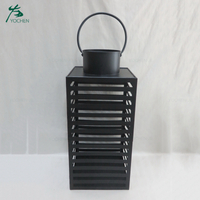 Home accessory black wire metal craft candle holder