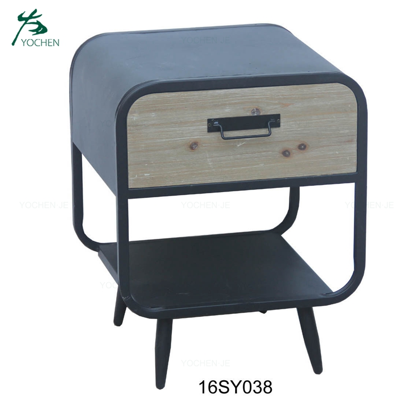 luxury small furniture one drawer wooden side table nighstand