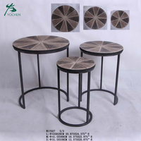 living room table coffee modern round nesting wood coffee table