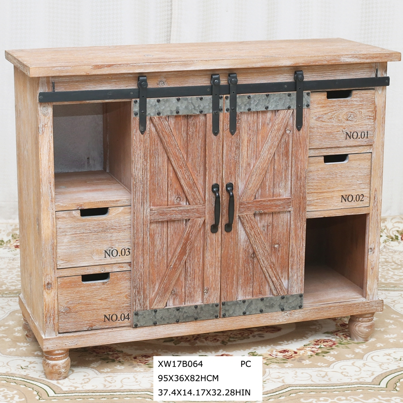 industrial buffet cabinet reproduction antique cabinet with drawer