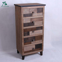 living room American style furniture vintage wood drawer cabinet