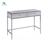 Home Funiture Toughened Mirror Stainless Steel Console Table
