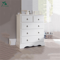 Wood Cabinet Small Drawer Standing Storage Cabinet