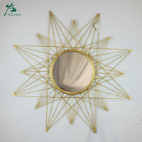 wholesale wall mounted round antique glass star wall mirror decorative