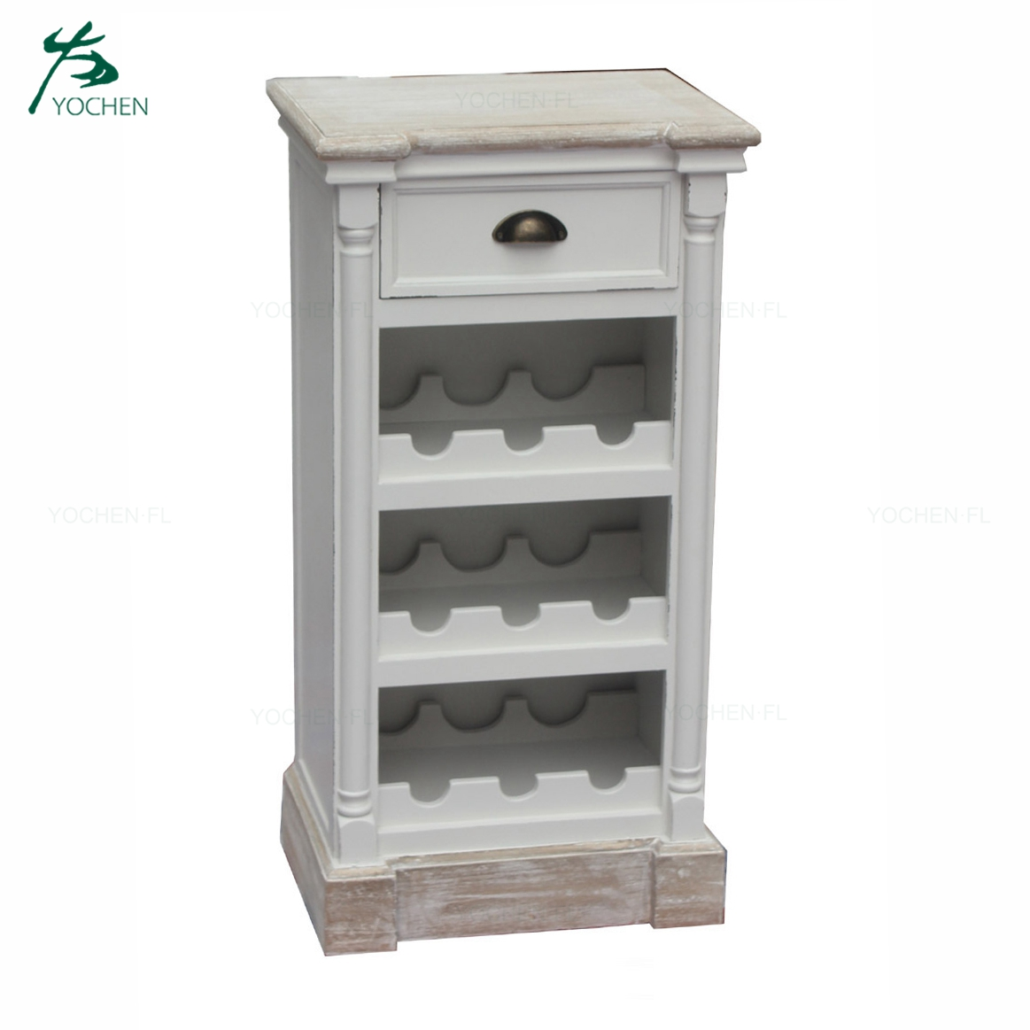 living room noble white wood wine cabinet