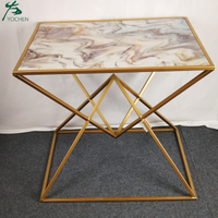 sofa living room furniture modern marble side table