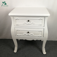 rice white color nice quality noble European style nightstand