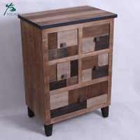 American style living room furniture natural color cabinet with drawers