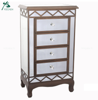 Best selling mirrored cabinet chest tallboy with 4 drawers