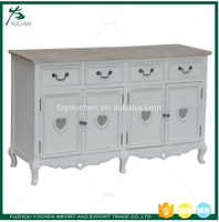 White Painted Large Buffet Sideboard Table