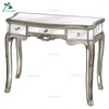 Italian design modern solid wood mirrored console table with mirror