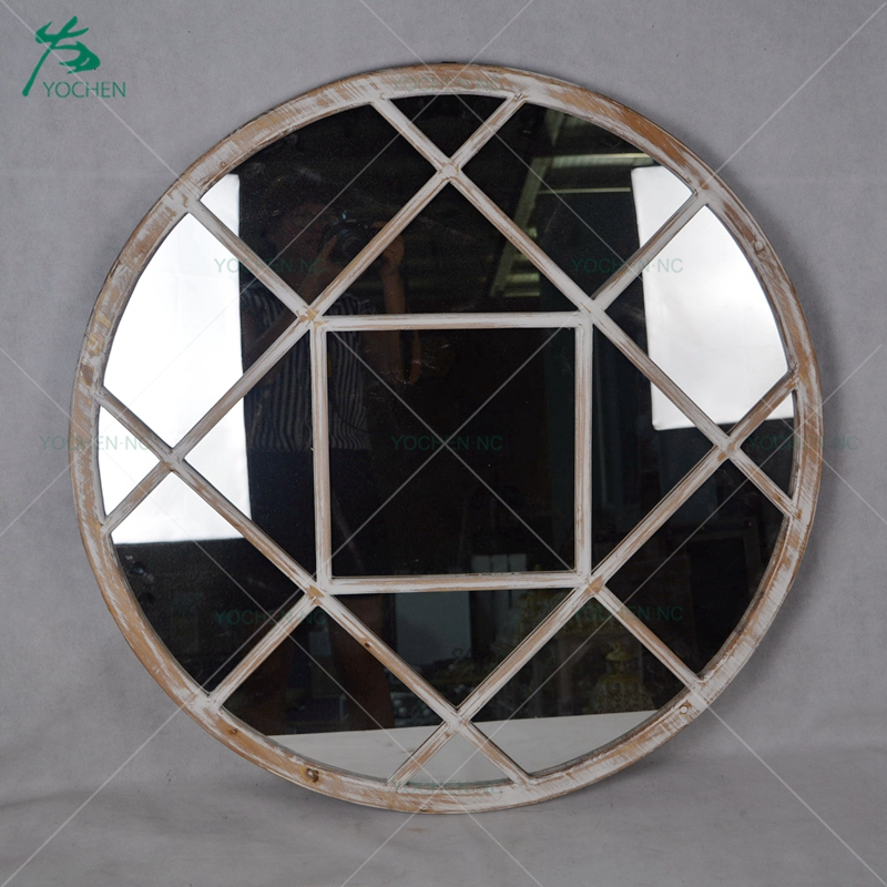 Modern home wooden wall decorative hotel vanity mirrors