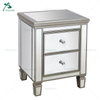 Silver Glass Wood Tall Nightstand