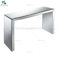 Hall Table Clear Mirrored Design