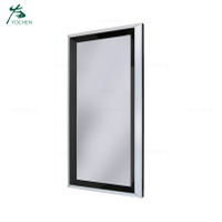 Decorative long rectangle black glass wall mirrors