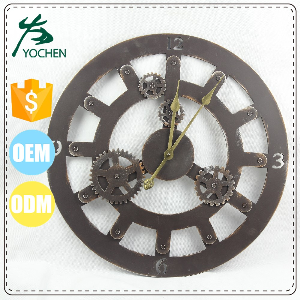 Vintage Large Iron Metal Indoor Decorative Wall Clock