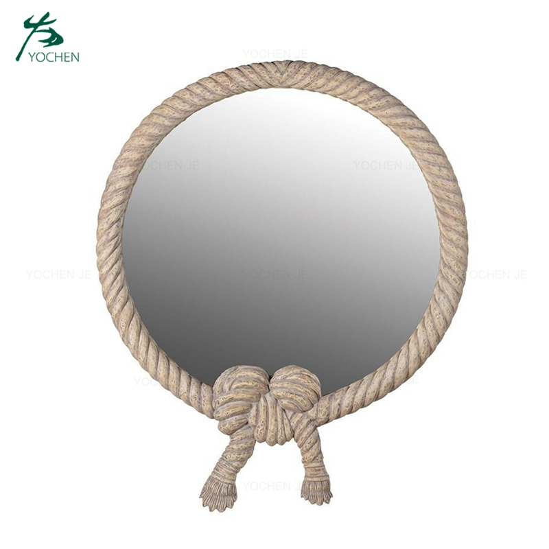 Rope Frame Antique Decorative Round Wall Mirror