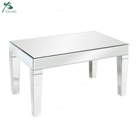 New design factory price turkish furniture mirrored coffee table