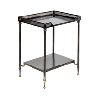 home decoration industrial metal coffee table