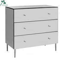 mirrored furniture wholesale silver glass mirrored 3 drawer chest